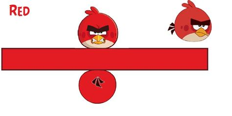 Angry Birds Papercraft - papercraft angry birds template by bluejay5678