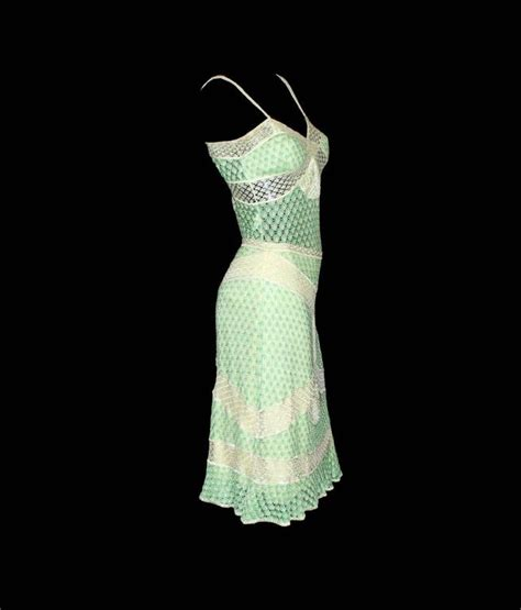 Id 351 Crochet Set Topskirts Black missoni lime crochet knit top skirt ensemble dress for sale at 1stdibs