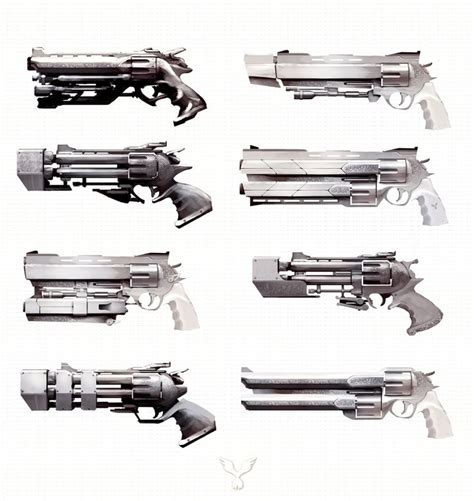 gun designs cool weapons cool concept futuristic medieval and