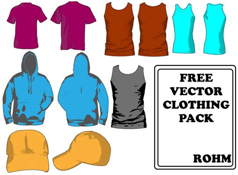 clothing templates pack vector free download