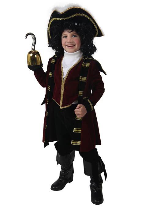 kids deluxe pirate captain hook costume boys captain