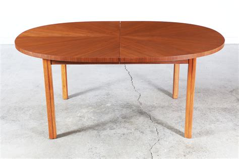 oval dining table with leaf mid century oval walnut dining table w extension leaf