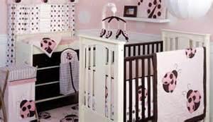 Pink And Brown Ladybug Crib Bedding Ladybug Baby Bedding For Cribs