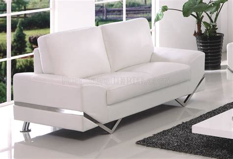 7240 sofa in white bonded leather pvc by american eagle
