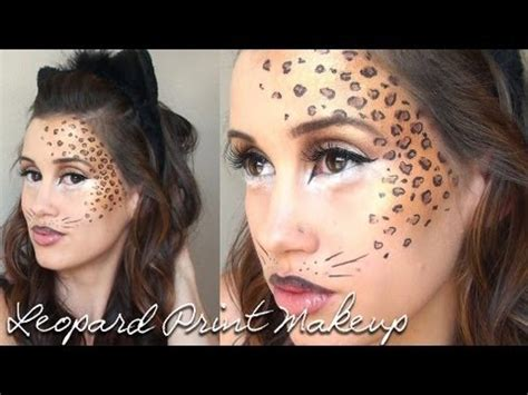 leopard makeup tutorial leopard print halloween makeup tutorial youtube