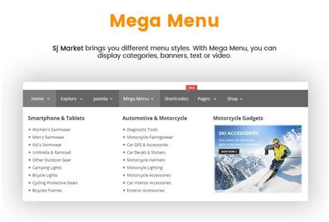 newspaper theme mega menu sj market simply effective virtuemart 3 theme for any