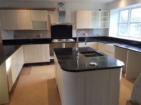 Square Kitchen Islands nero assoluto in gloucestershire