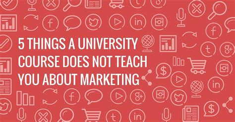 Courses On Marketing 5 by 5 Things Courses Do Not Teach About Marketing