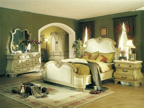 antique white bedroom furniture sets antique white finish leather upholstery traditional