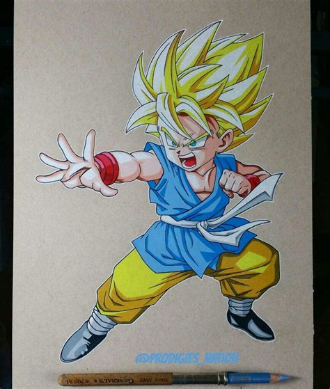drawing color drawing kid goku color pencils dragonballz amino