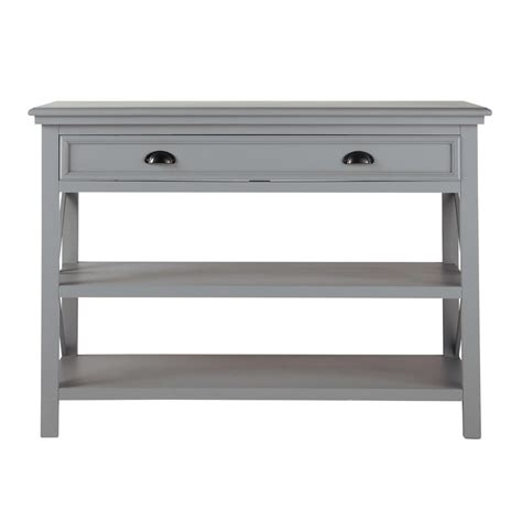 Gray Console Table Wooden Console Table Grey L 120 Cm Newport Maisons Du Monde
