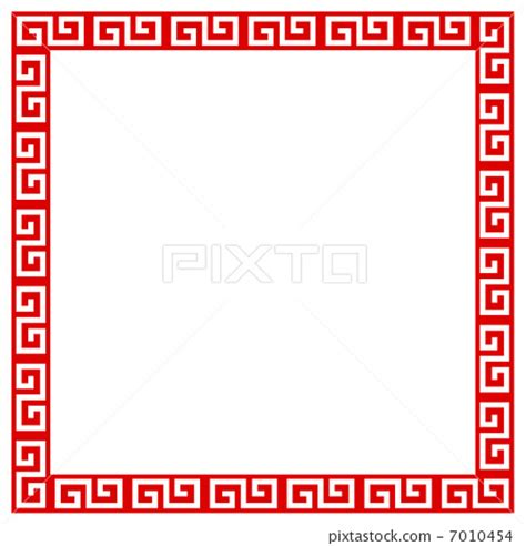 chinese pattern, flame, frame stock illustration