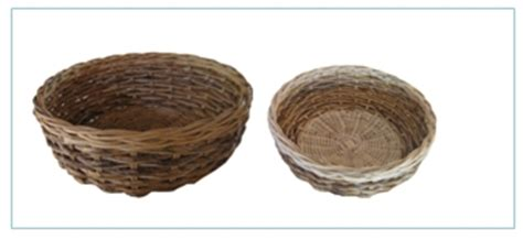 Keranjang Parcel rattan wicker basket rattan bike baskets rattan wicker storage baskets manufacturer from