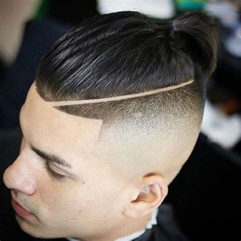 mens hairstyle shaved sides with a pony in back shaved sides hairstyles for men