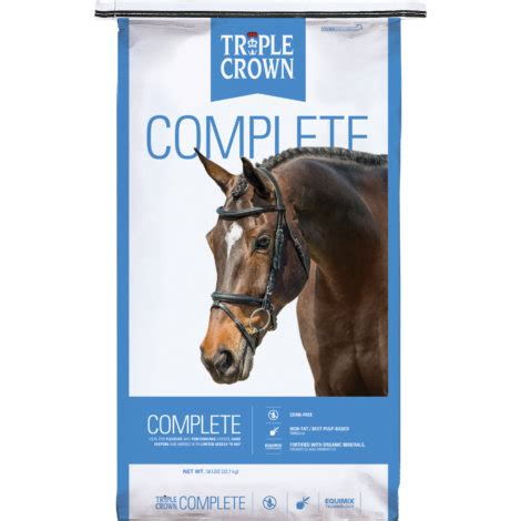 triple crown complete horse feed by triple crown at mills