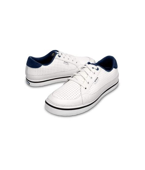 crocs mens drayden golf shoes white navy golfonline