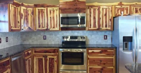 rustic red cedar kitchen cabinets modern frontier log