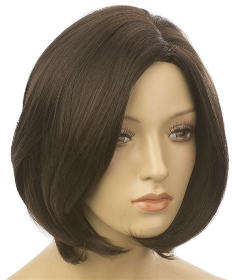 short hair cuts with dark brown color with carmel highlights female mannequin wig with short hair dark brown color