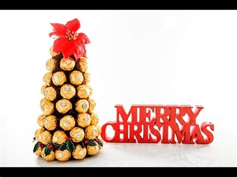 how to make a rocher christmas tree with 48 rocher chocolates ferrero rocher tree
