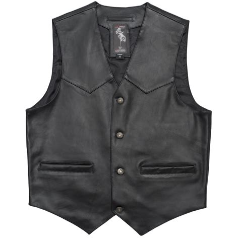 leather waistcoat biker cruiser leather biker vest vintage apparel motorcycle