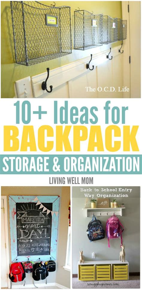 backpack storage solutions best 25 backpack storage ideas on pinterest