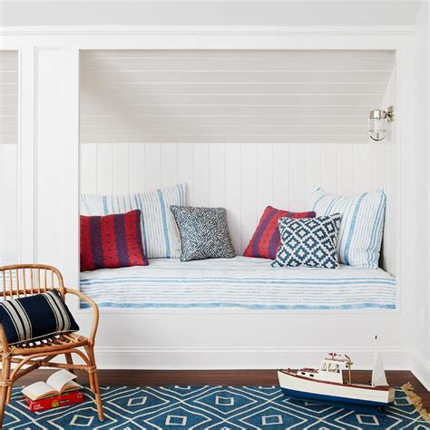 beach style bedroom with reading corner cottage bedroom beach cottage with built in reading nook cottage bedroom