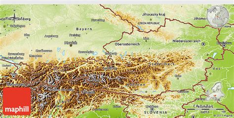 physical map of austria physical 3d map of austria