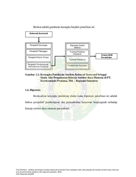 kerangka pemikiran tesis adalah tesis manajemen sdm balanced scorecard kinerja sdm