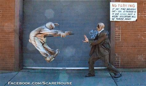 Hadouken Meme - quot scarehouse bunny quot vs pittsburgh zombie hadouken