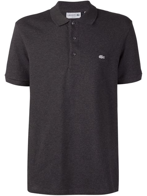 Polo Shirt Lacost Tosca List Black lacoste black sleeve polo shirt for lyst