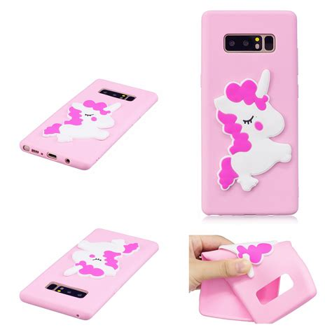 Silicone Samsung Note 8 3d soft silicone rubber cover for