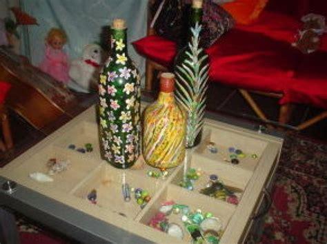 como decorar botellas de vino con flores c 243 mo decorar botellas manualidades