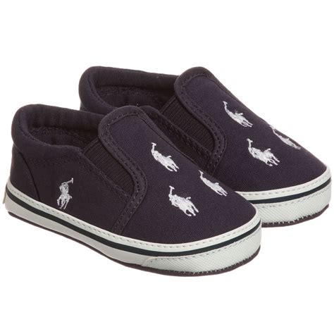 ralph baby shoes ralph navy blue canvas baby shoes childrensalon