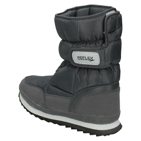 mens fleece lined boots mens reflex fleece lined snow boots a3015 ebay