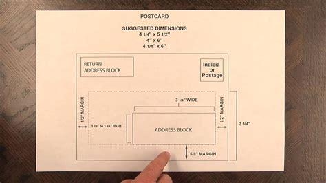 us postcard template postcard mail design specs