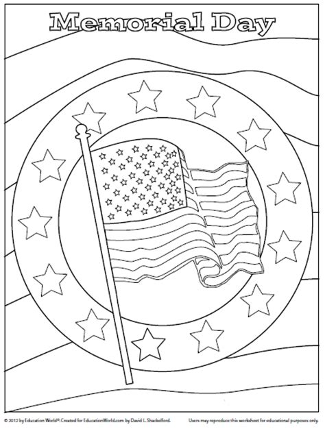 preschool coloring pages for memorial day coloring sheet memorial day education world