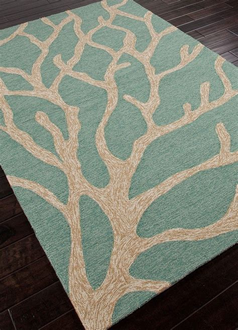 Coral Indoor Outdoor Rug Seabreeze Teal Coral Area Rug Indoor Outdoor
