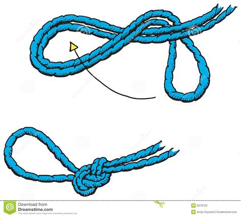 how to tie a knot for a rope swing how to tie a stein knot stock photos image 6276123