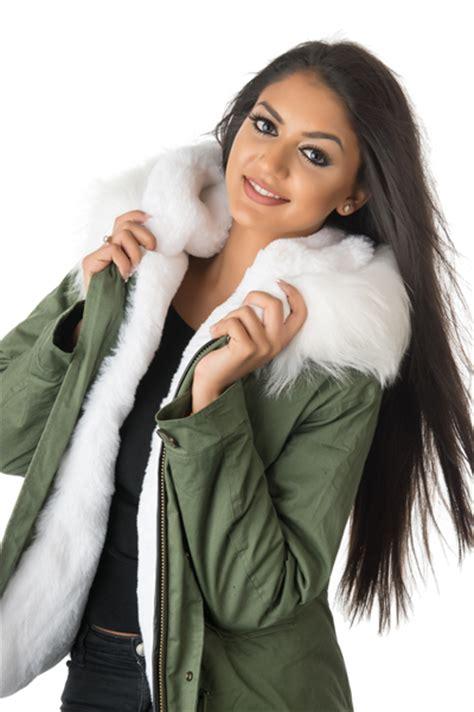 stonetail womens white fur parka jacket