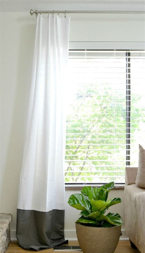 dyi curtains livelovediy diy no sew two toned curtains