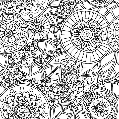 seamless doodle pattern free vector seamless floral doodle black and white background pattern