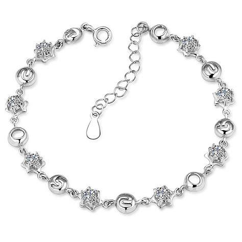 bijoux argent femme 925 bracelet femme argent 925 plaque rhodium serti zirconium bijouxstore webid 1046