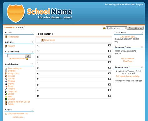 moodle theme base edugeek moodle theme