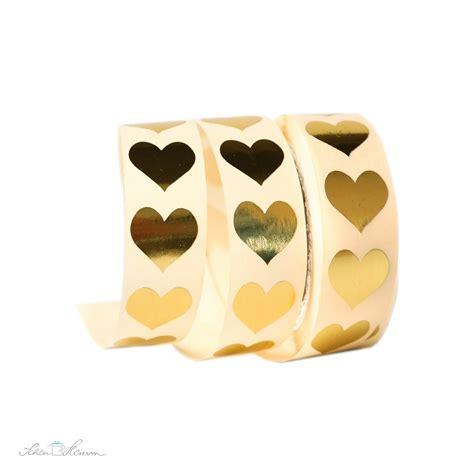 Aufkleber Gold Herz by Aufkleber Kleines Herz Gold 20 St 252 Ck