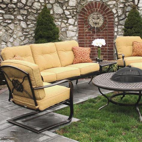 6 piece heritage deep seating cast aluminum patio set