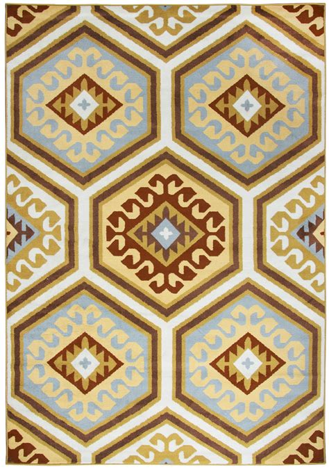 7 X 10 Area Rugs Millington Tribal Hexagon Area Rug In Burgundy Blue 7 10 Quot X 10 10 Quot