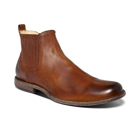 frye chelsea boot frye chelsea boots in brown for cognac lyst