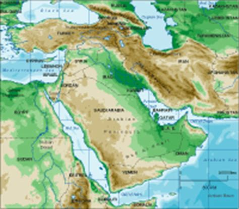middle east map topographical middle east map maps of the middle east