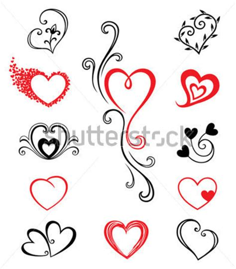 heart tattoo logo hj 228 rtan tattoo set 2 clipart clipartlogo com