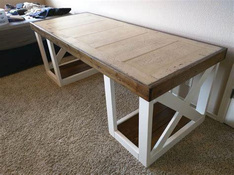 desk made from door desk made from grandparents door diy